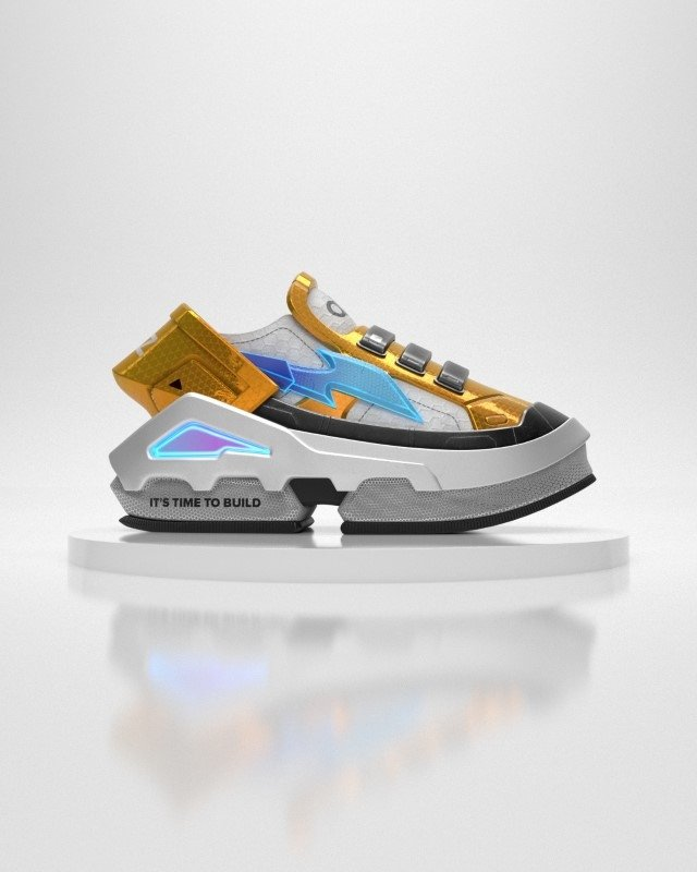 A virtual sneaker made by digital fashion company RTFKT in collaboration with the fund A16z is seen in this render obtained by Reuters on Aug. 10, 2021. (RTFKT INC/Handout via Reuters)