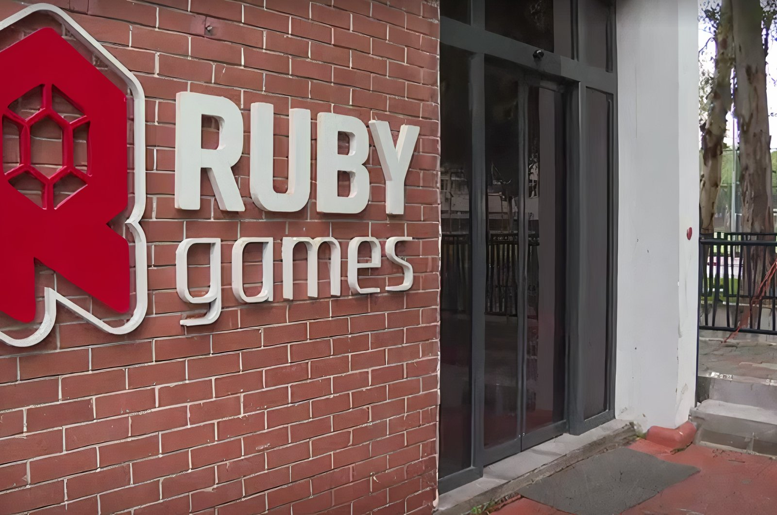 The entrance of the Ruby Games' office is seen in Izmir, western Turkey, March 25, 2021. (AA Photo)