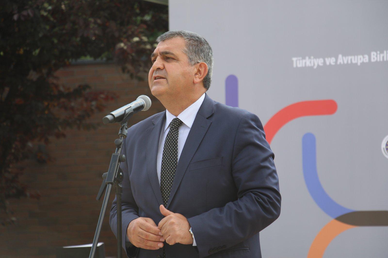 Deputy Foreign Minister Faruk Kaymakcı speaking at an event in Ankara, Turkey, July 27, 2021. (IHA Photo)