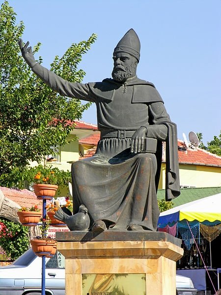 A sculpture of Haji Bektash Veli in Turkey. (Wikipedia Photo)
