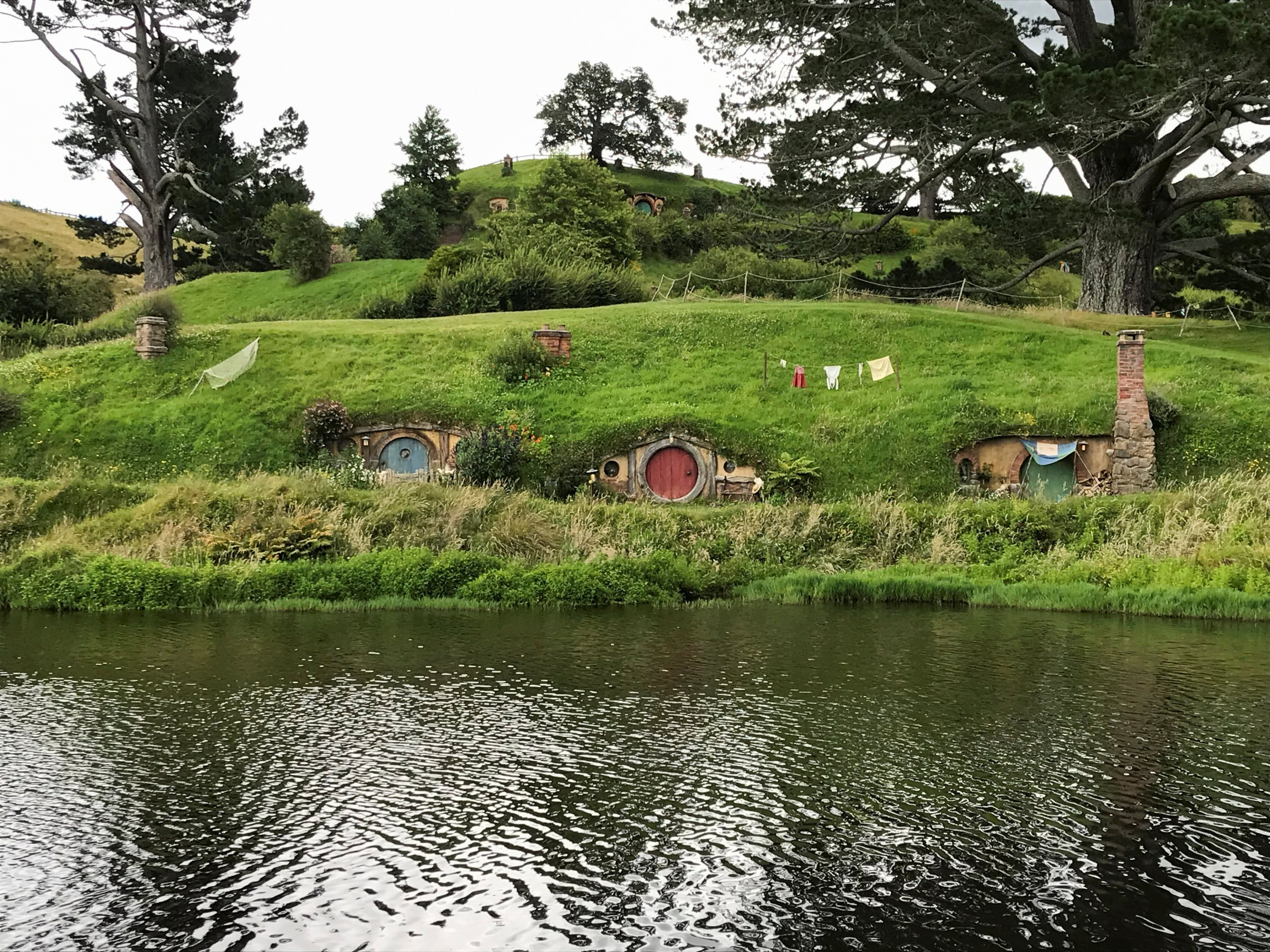 The Hobbiton Movie Set, a location for 'The Lord of the Rings' and 'The Hobbit' film trilogy, is pictured in Matamata, New Zealand, on Dec. 27, 2020. (REUTERS Photo)