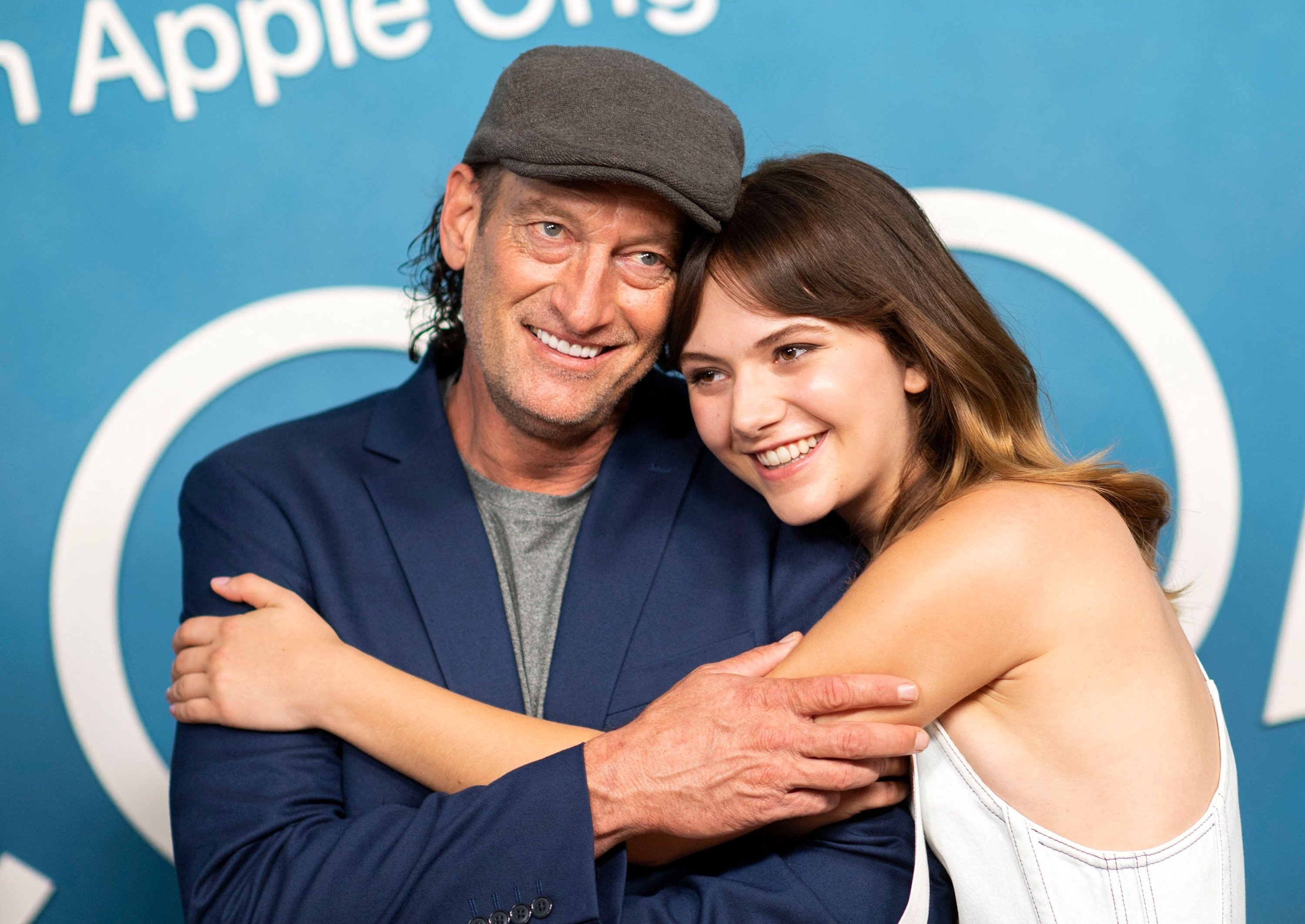 Actors Troy Kotsur (L) and Emilia Jones attend the Sundance Film Festival Award Winner CODA photocall at the London hotel, in West Hollywood, California, U.S., July 30, 2021. (AFP Photo)