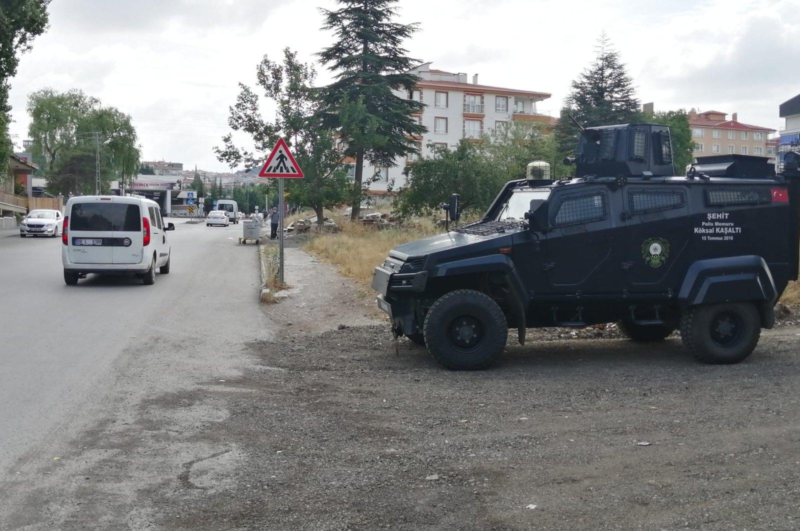 Security forces are seen in Altındağ district, Ankara, Turkey, Aug. 11, 2021. (IHA Photo)