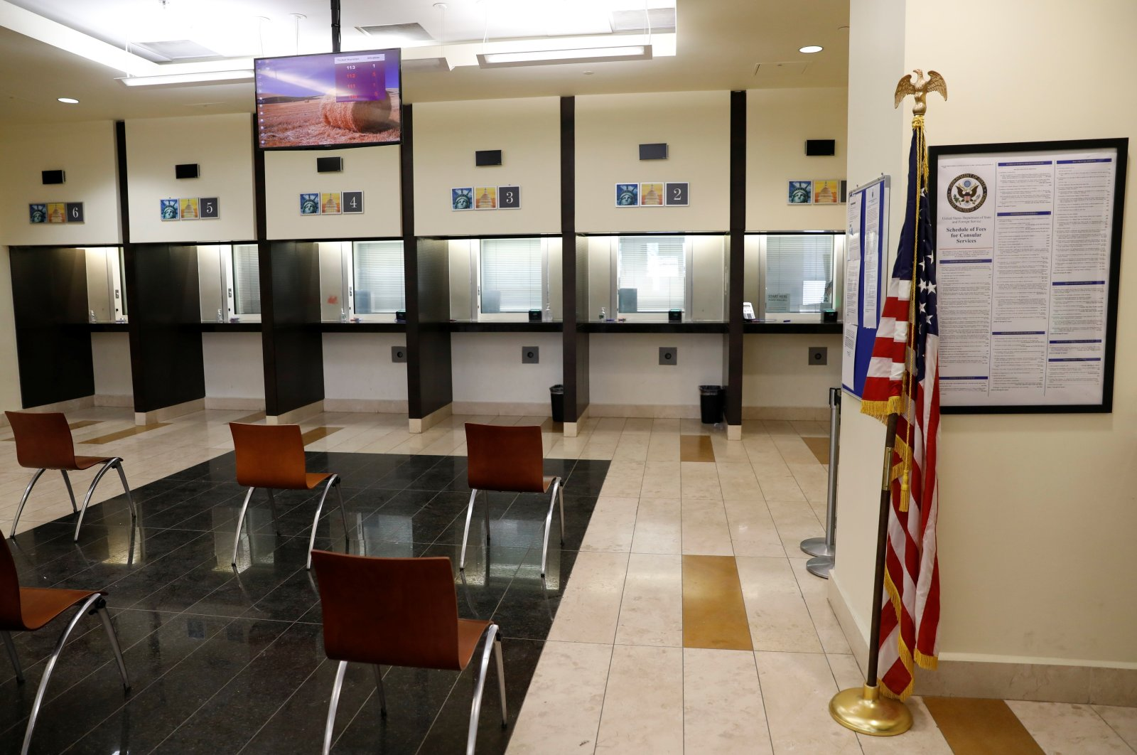 General view of the consular section at the U.S. Embassy in Kabul, Afghanistan, July 30, 2021. (Reuters Photo)