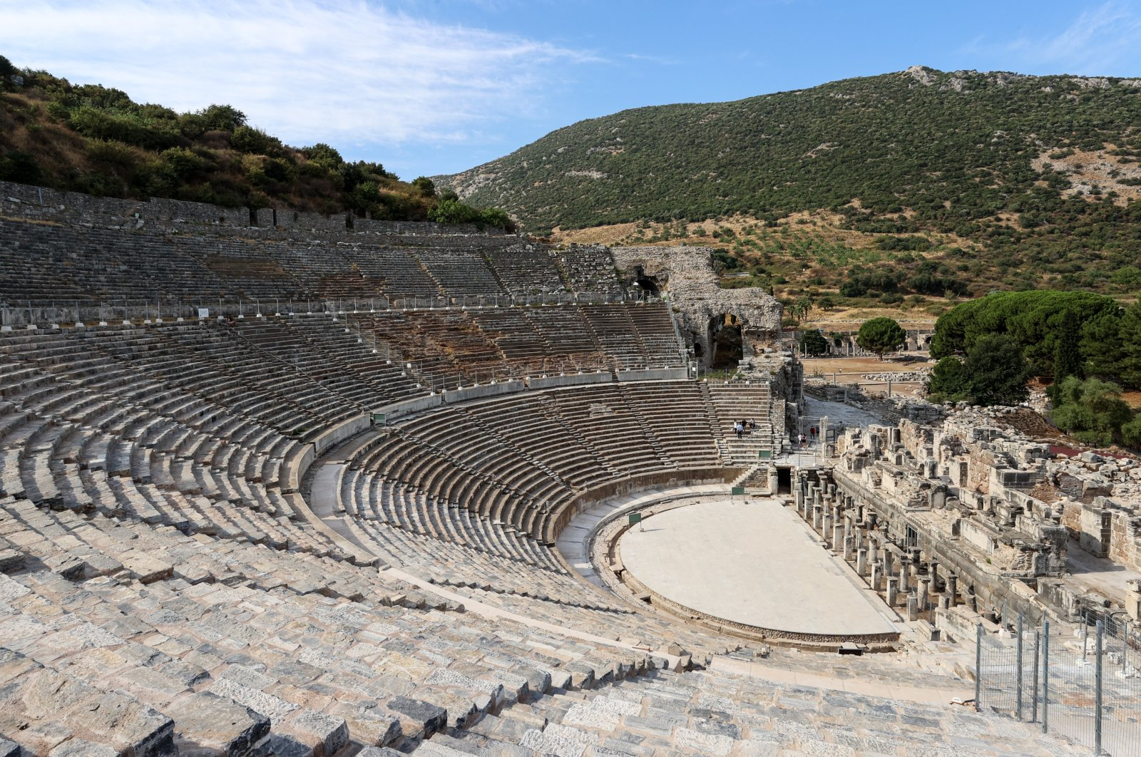 Turkey's ancient Ephesus Theater reopens following a three-year break. (AA Photo)