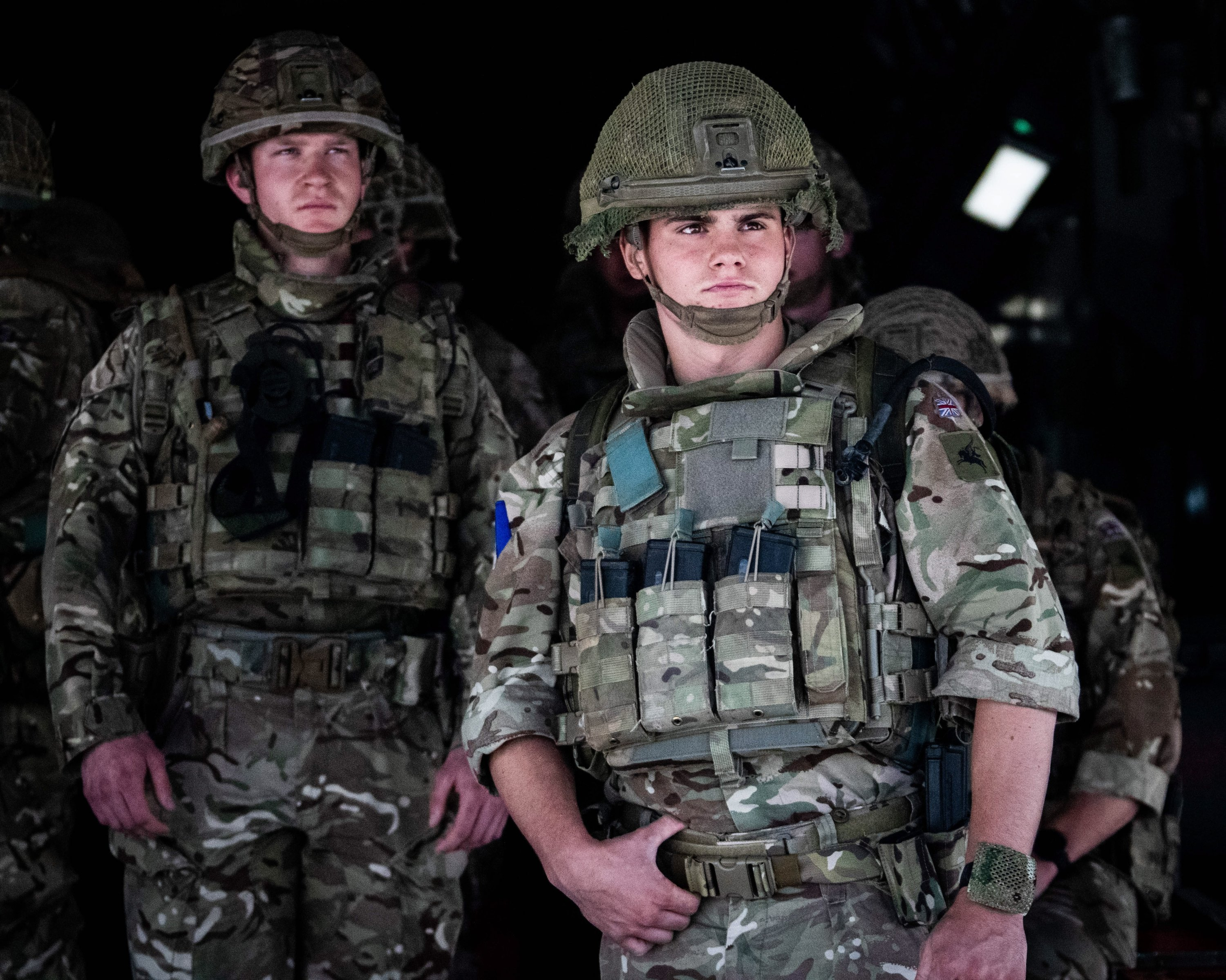 British Forces from 16 Air Assault Brigade on arrival in Kabul, Afghanistan, Aug. 15, 2021. (EPA Photo)