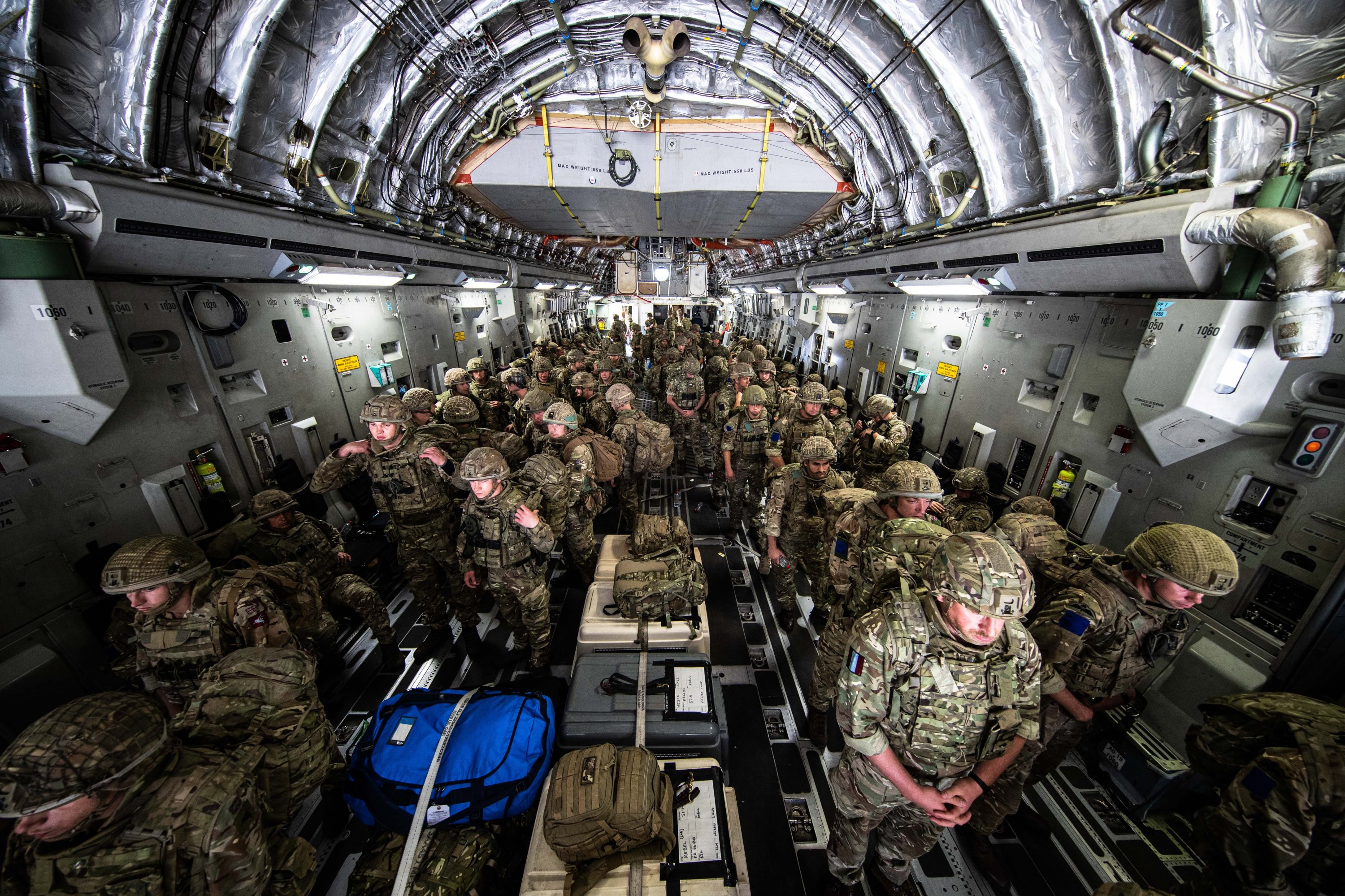 British Forces from 16 Air Assault Brigade on arrival in Kabul, Afghanistan, Aug. 2021. (EPA Photo)