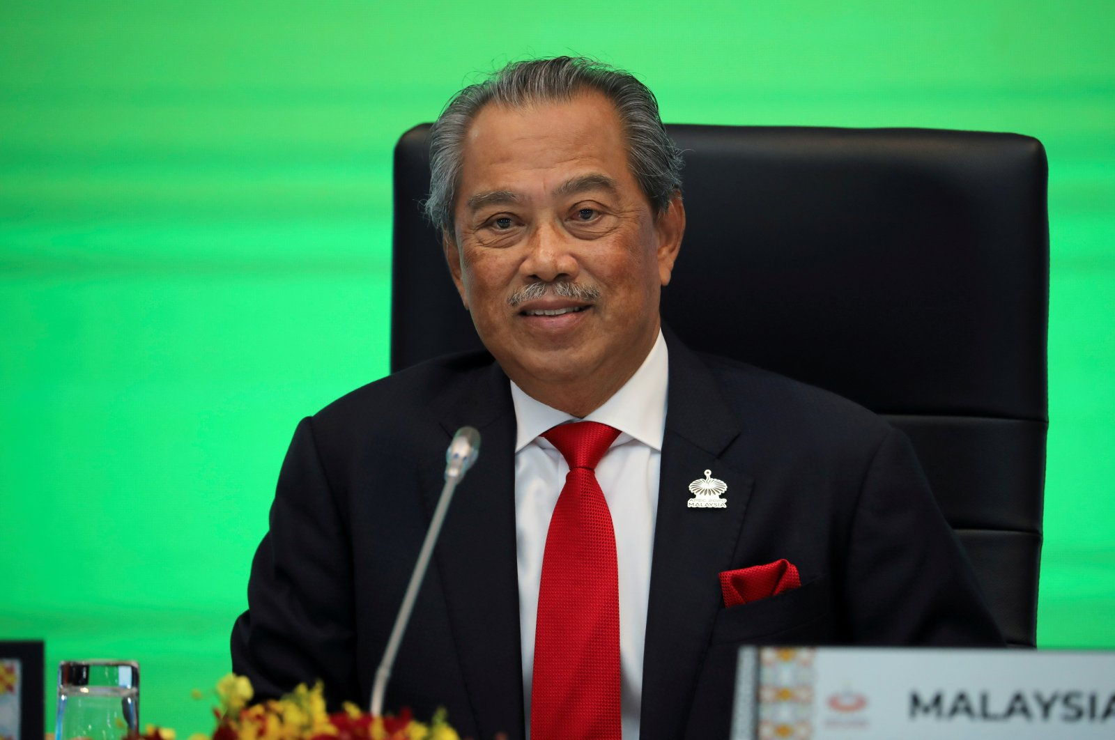 Malaysia's Prime Minister Muhyiddin Yassin speaks during opening remarks for the virtual APEC Economic Leaders Meeting 2020, in Kuala Lumpur, Malaysia November 20, 2020. (Reuters Photo)