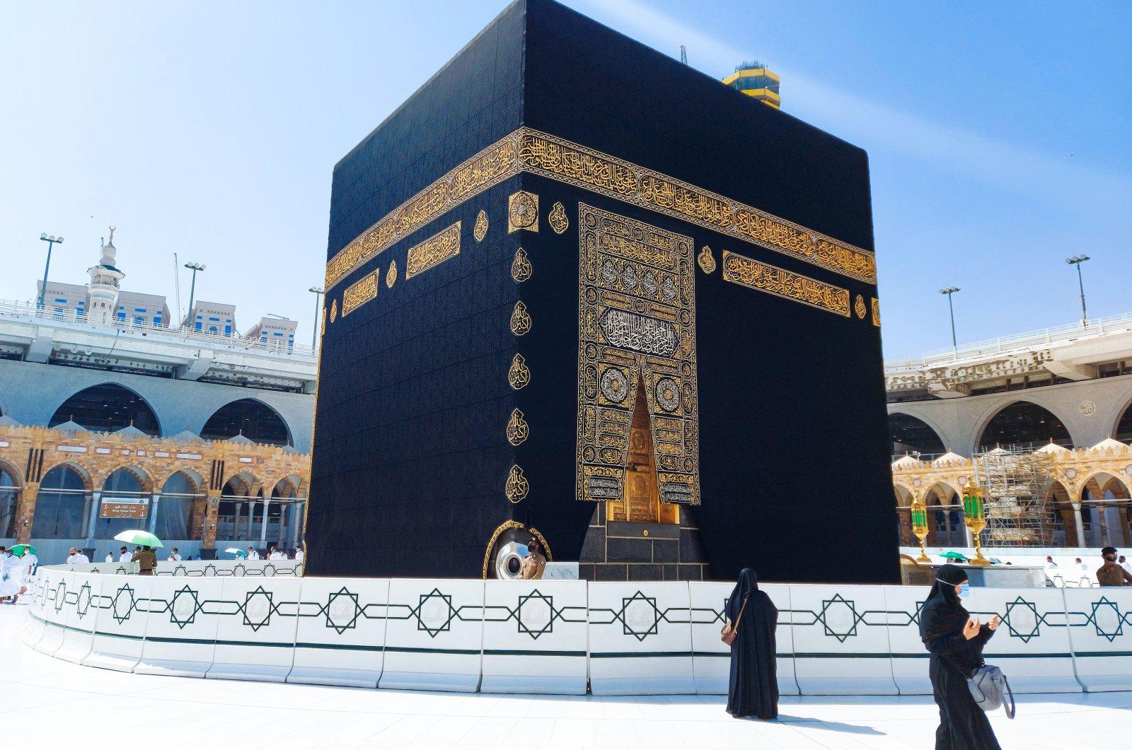 Pilgrims circle the Kaaba, the holiest site in Islam, at Masjid al-Haram in Mecca, Saudi Arabia, Oct. 22, 2020. (Shutterstock Photo)