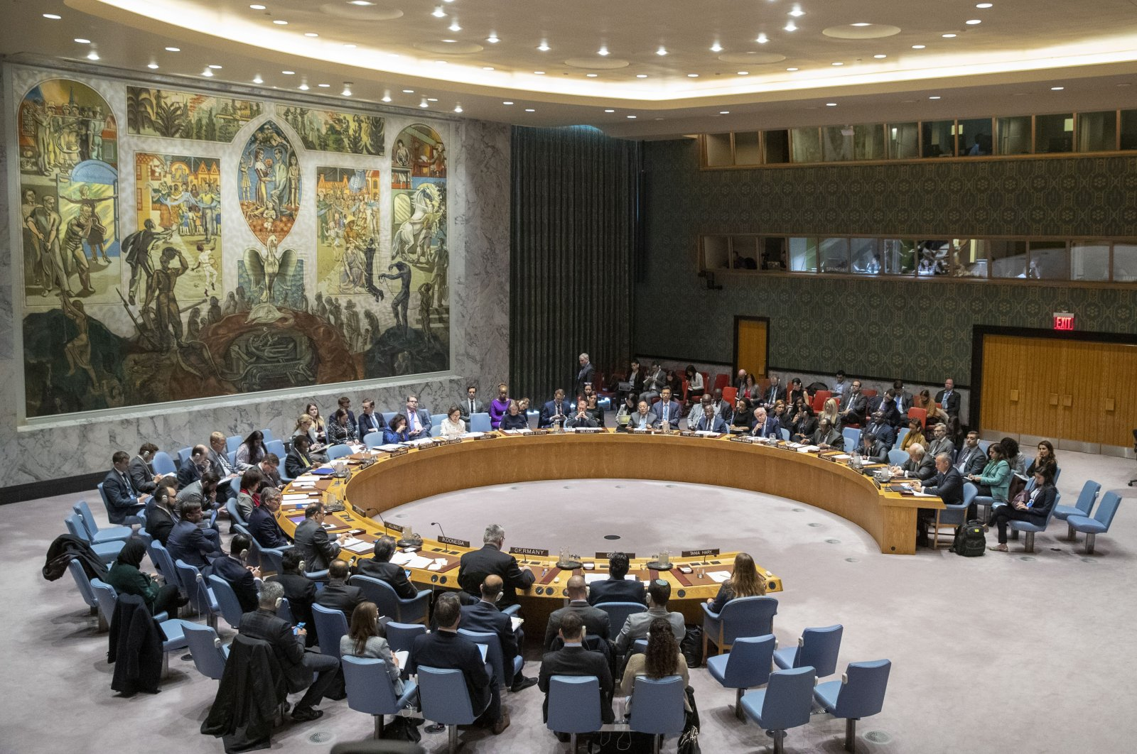 The U.N. Security Council holds a meeting on the Middle East, including the Palestinian question, in this Nov. 20, 2019 file photo, at United Nations headquarters. (AP File  Photo)