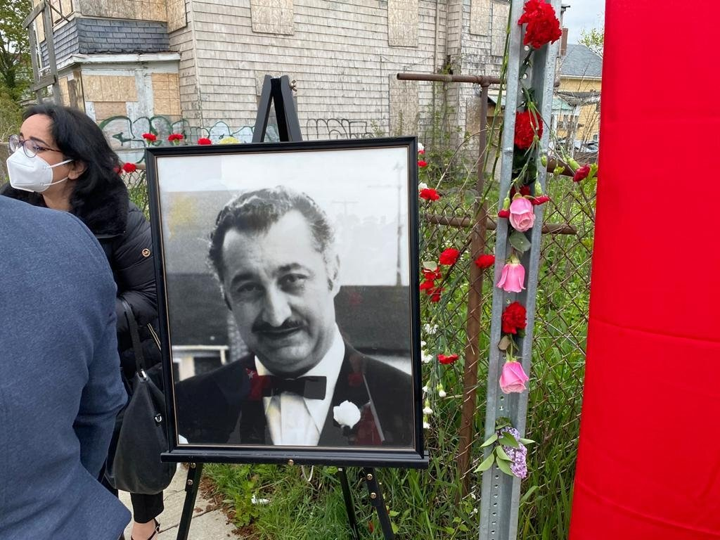 Diplomat Orhan Gündüz, who was martyred 39 years ago by the Armenian terrorist organization while serving as Turkey's Honorary Consul General in Boston in the U.S., was commemorated at his grave in Boston, Massachusetts, U.S., May 5, 2021. (AA Photo)