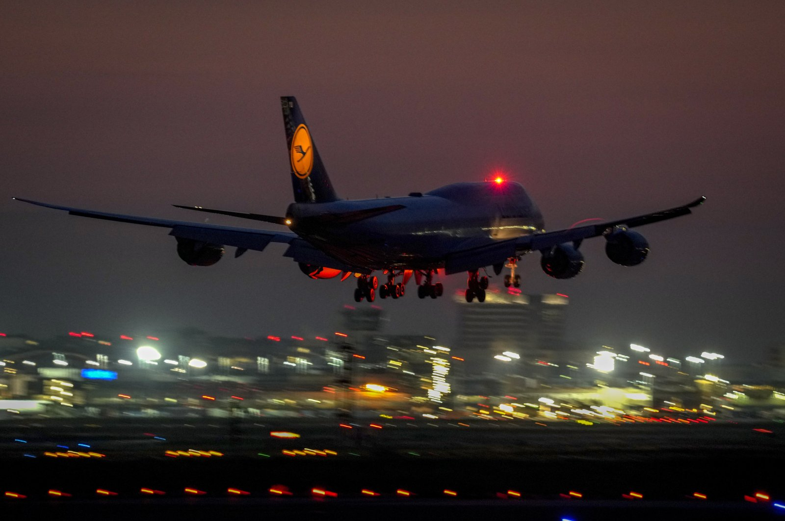 A Lufthansa Boeing 747 aircraft approaches the international airport in Frankfurt, Germany, Aug. 13, 2021. (AP Photo)