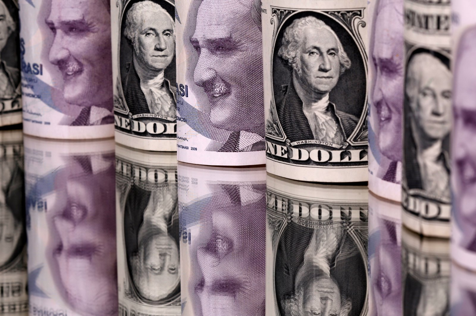 Turkish lira and U.S. dollar banknotes are seen in this illustration taken Jan. 6, 2020. (REUTERS Photo)