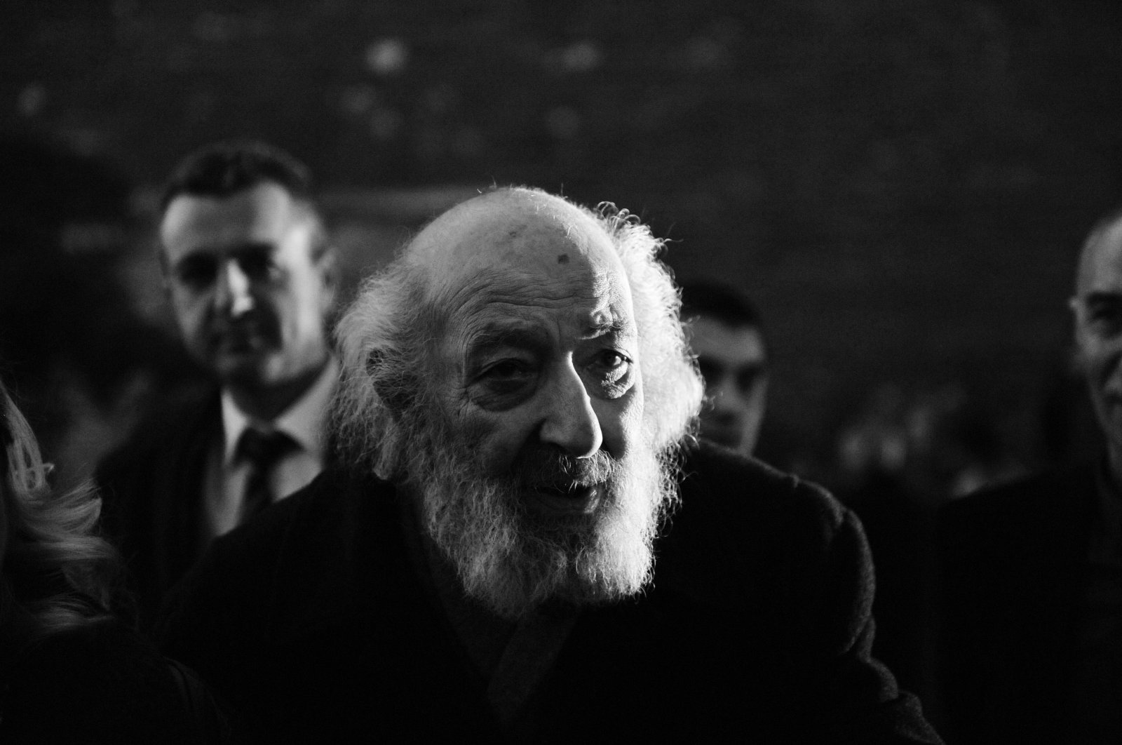 Ara Güler photographed during the honorary doctorate of Mimar Sinan Fine Arts University (MSGSÜ) in Istanbul, March 5, 2013. (Photo by İlhami Yıldırım)