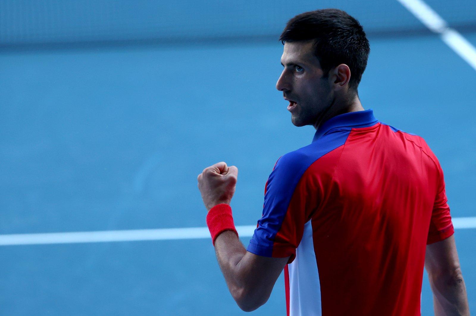 Serbia's Novak Djokovic reacts during his Tokyo 2020 bronze medal match against Spain's Pablo Carreno at the Ariake Tennis Park, Tokyo, Japan, July 31, 2021. (Reuters Photo)