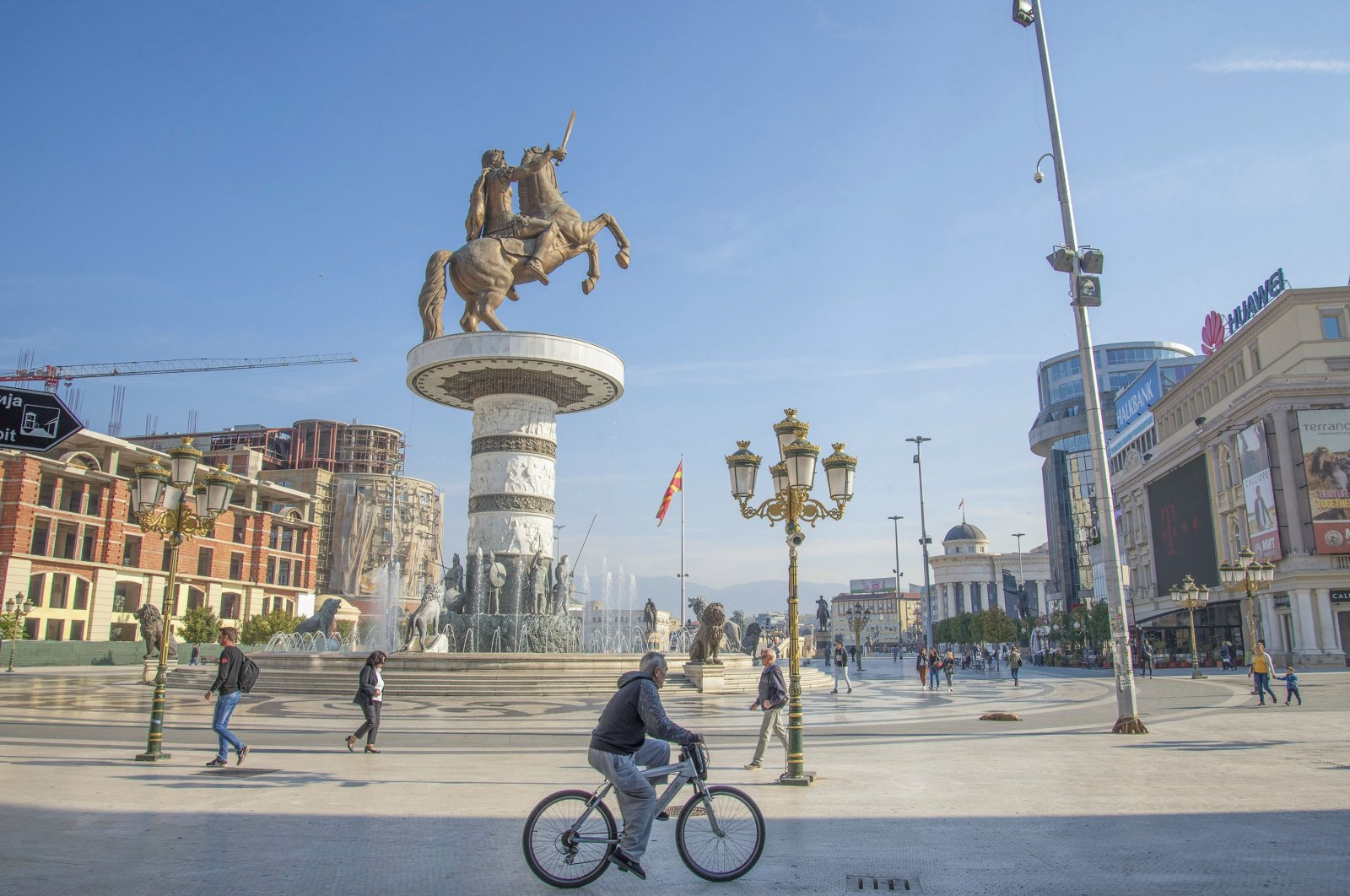 Macedonian square in the city of Skopje, North Macedonia, Oct. 2, 2018. (Shutterstock Photo)