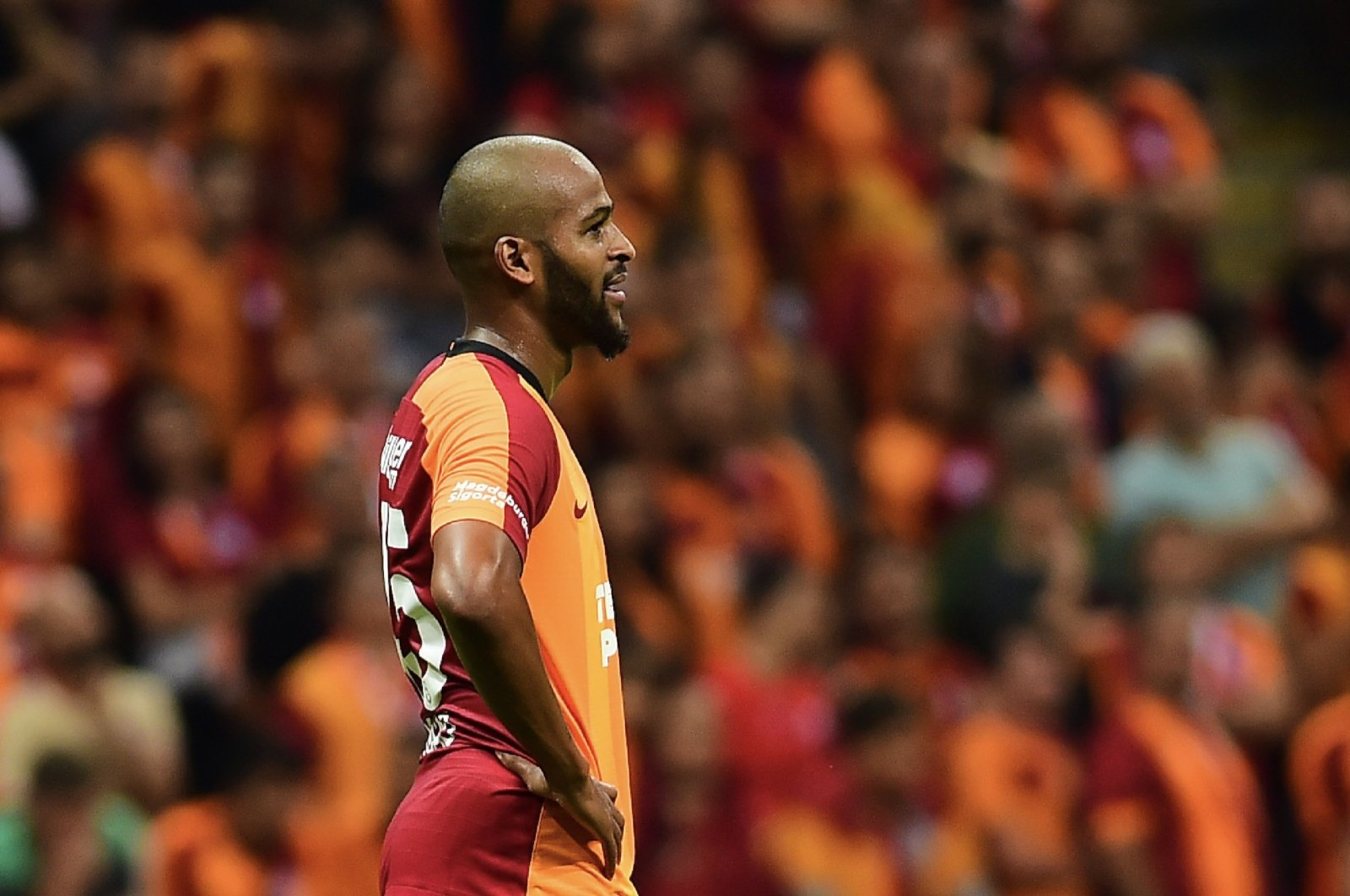 Galatasaray defender Marcao is seen in this file photo taken on Sept. 25, 2019. (Sabah Photo)