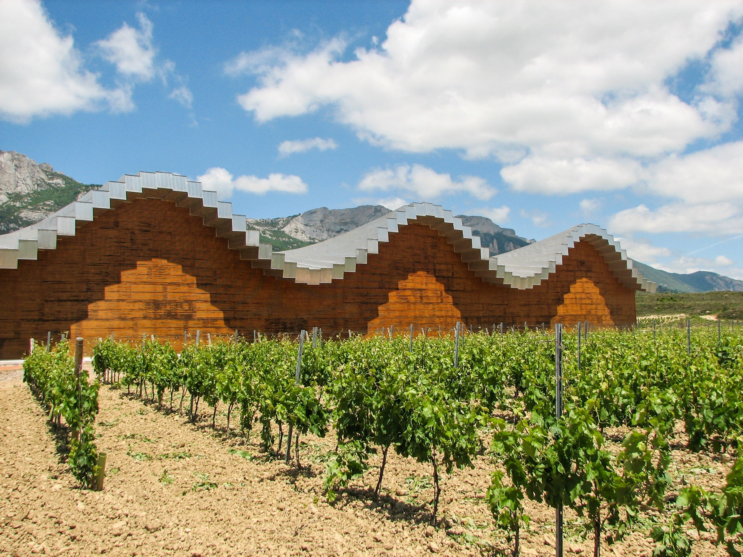 The Ysios winery in the Basque Country's Laguardia was designed by star architect Santiago Calatrava. (DPA Photo)