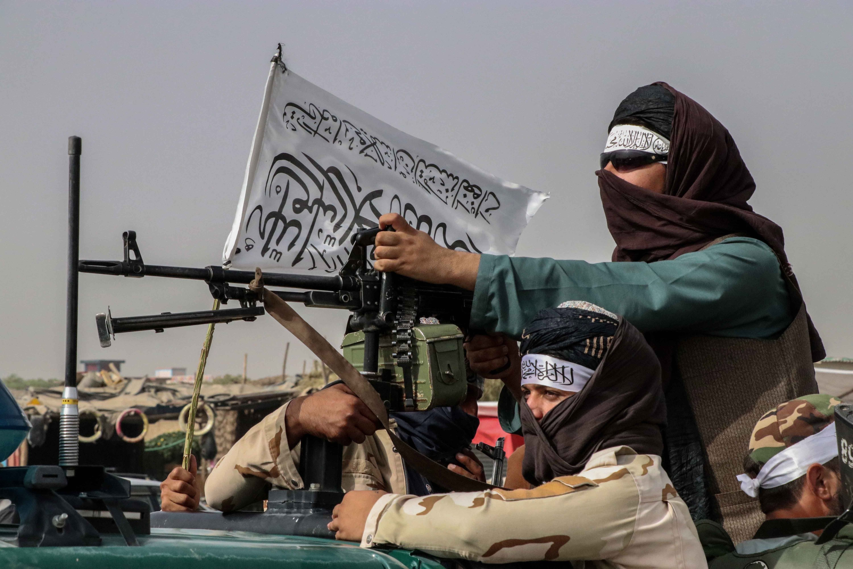 Taliban fighters patrol in Kandahar, Afghanistan, Aug. 17, 2021. (EPA Photo)