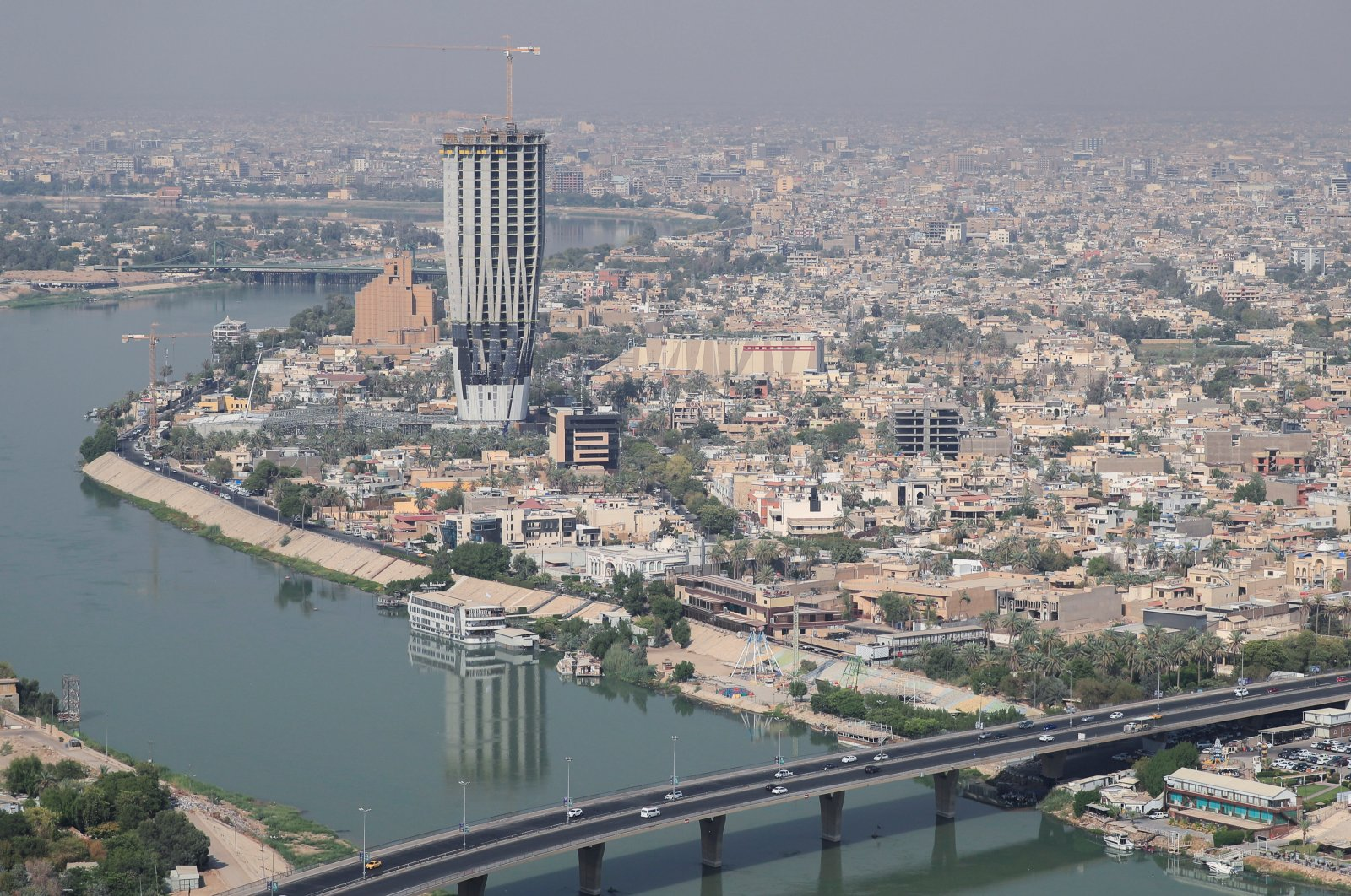 An aerial view of Baghdad, Iraq, Aug. 11, 2021. (REUTERS Photo)