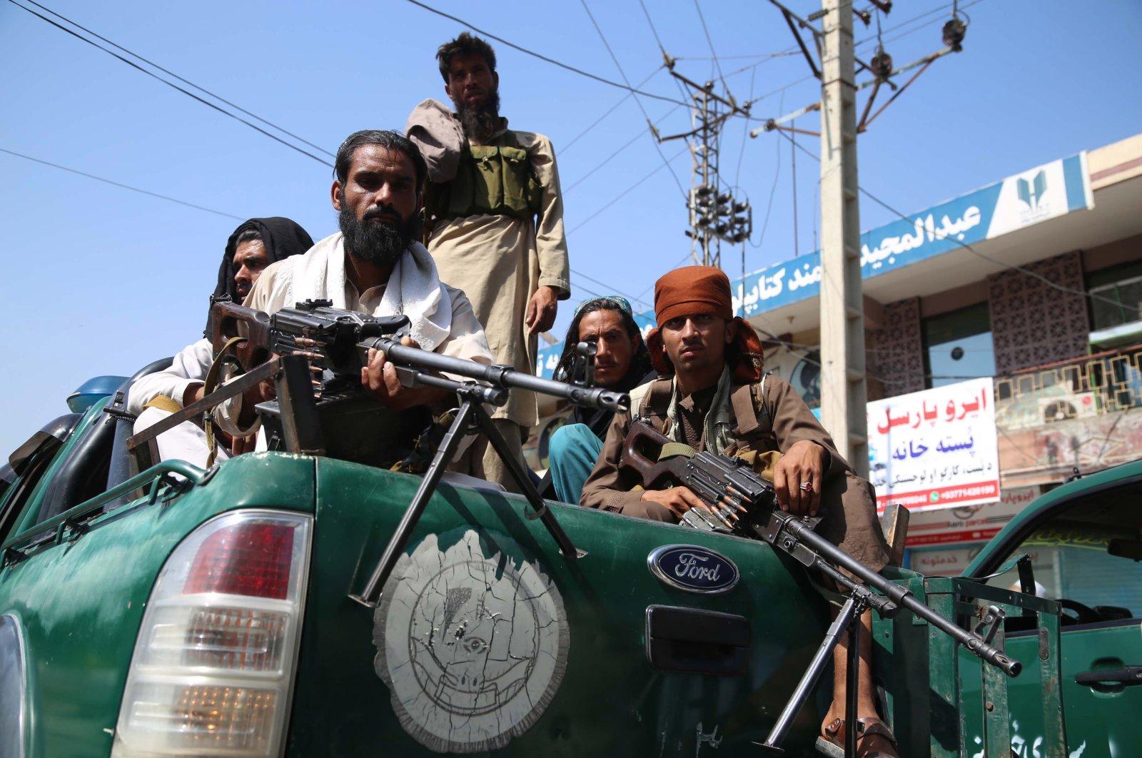 Taliban fighters patrol in Jalalabad, Afghanistan, Aug. 17, 2021. (EPA Photo)