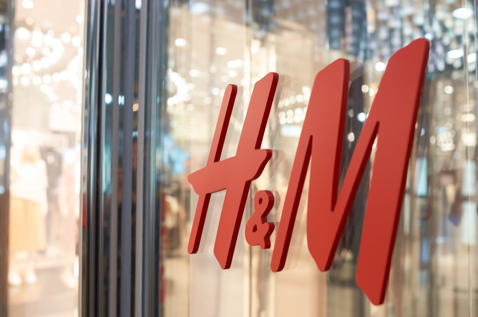 Close-up shot of the H&M logo in a store in New York, U.S. (Shutterstock Photo)