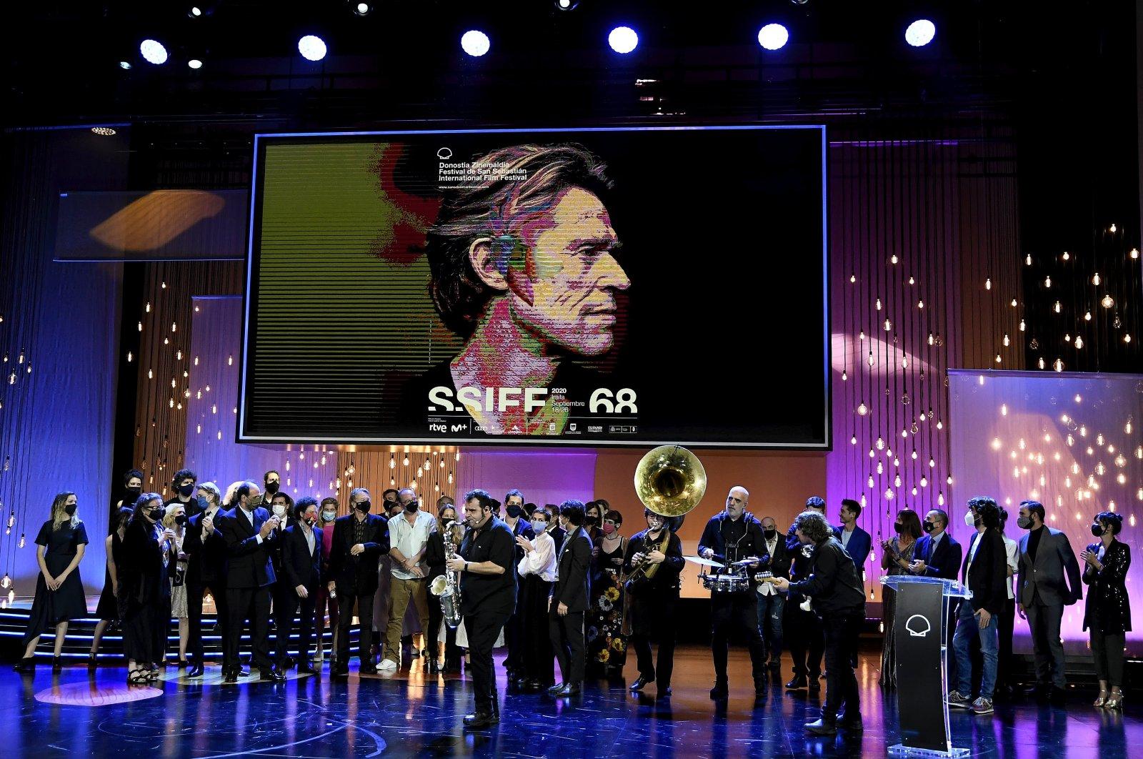The closing ceremony of the 68th San Sebastian Film Festival, in San Sebastian, Spain,Sept. 26, 2020. (Getty Images)