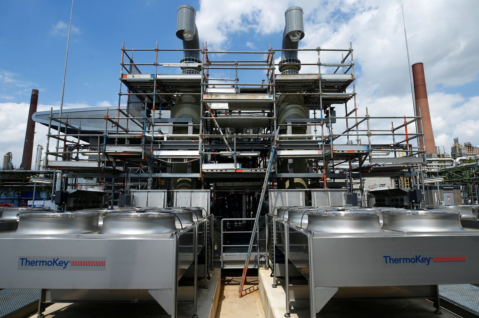 """A general view of a hydrogen electrolysis plant called """"REFHYNE,"""" one of the world's first green hydrogen plants, in Wesseling near Cologne, Germany, July 2, 2021. (Reuters Photo)"""