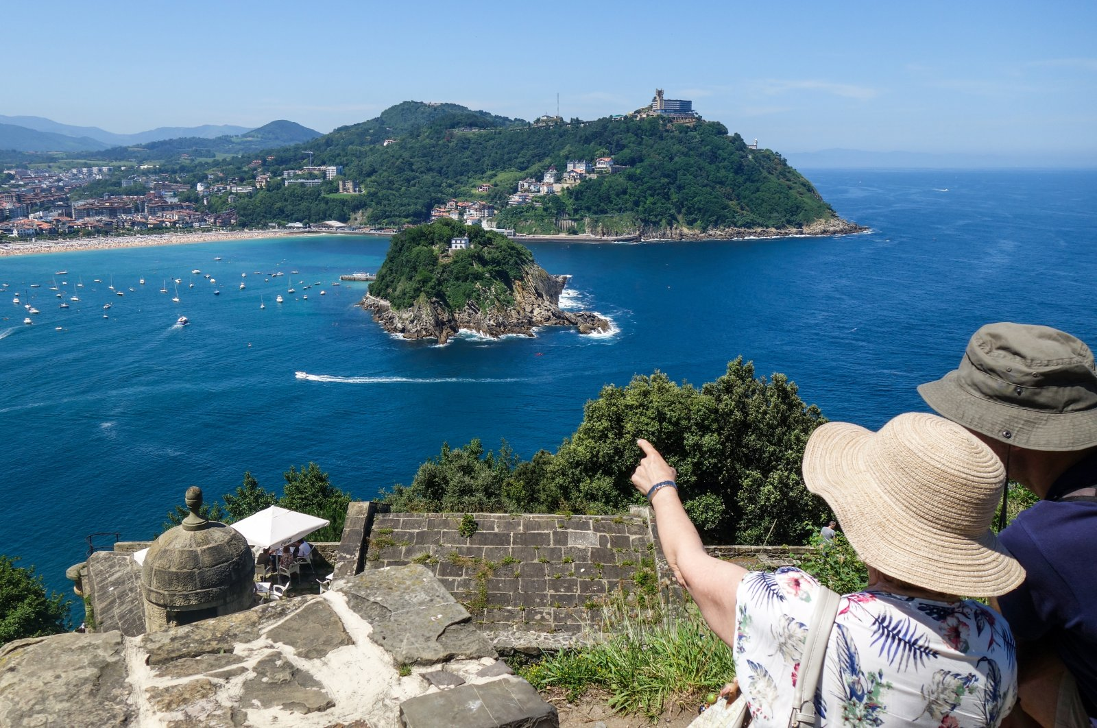 The views from the hills of Igueldo and Urgull in Spain's San Sebastian are as fantastic as the promenade along the Bay of Shells. (DPA Photo)