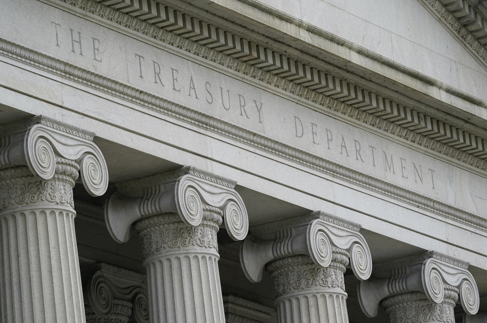 The U.S. Treasury building in Washington, the U.S., May 4, 2021. (AP Photo)