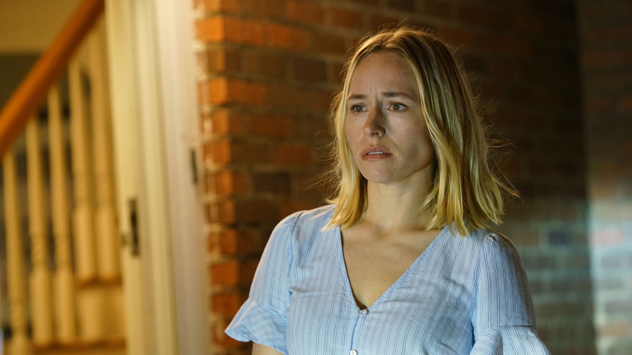 Sarah Goldberg, in a scene from the film 'The Night House.'(Searchlight Pictures via AP)