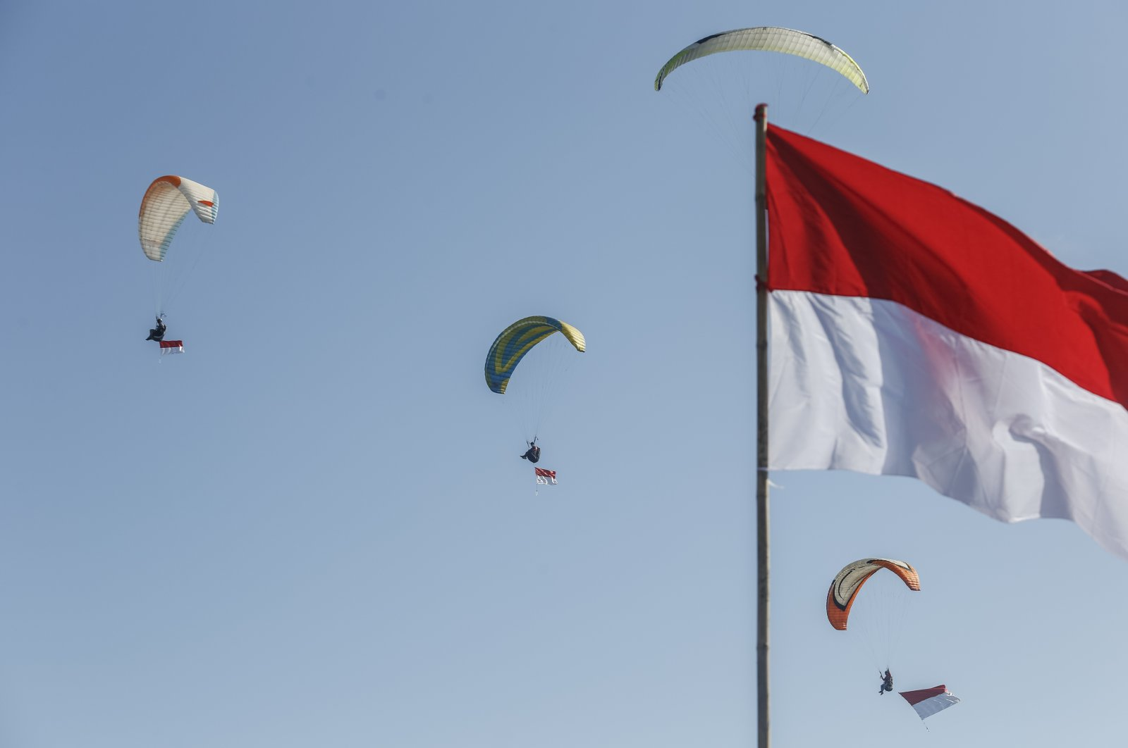 The 76th anniversary of Indonesia's Independence was celebrated in Bali, Indonesia, Aug. 17, 2021. (AA Photo)