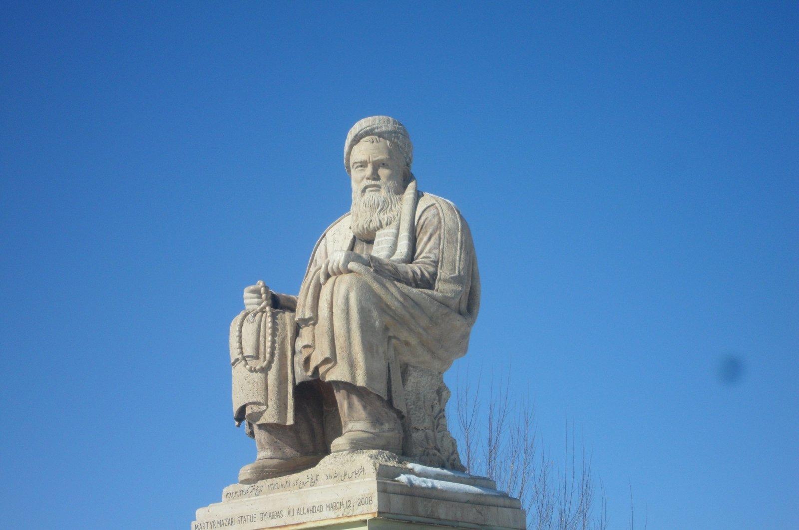 Statue of Abdul Ali Mazari in Bamyan, Afghanistan. (Wikipedia Photo)