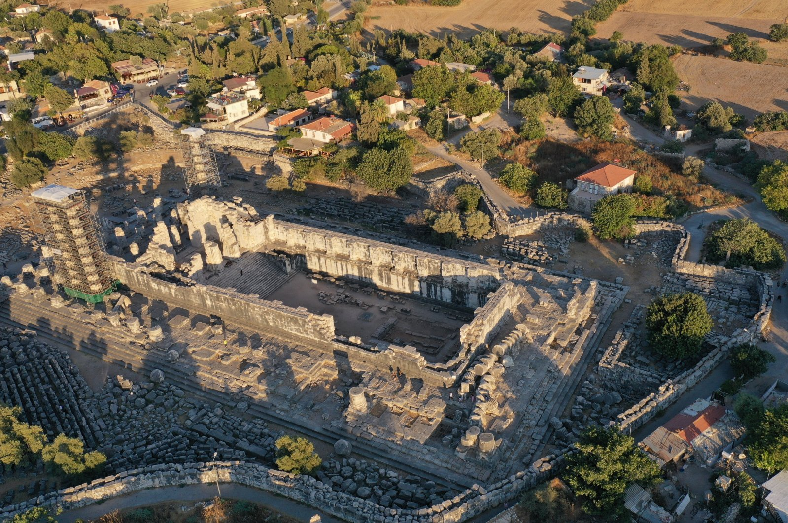 An aerial view from the Temple of Apollo, Aydın, southwestern Turkey, Aug. 18, 2021. (AA Photo)