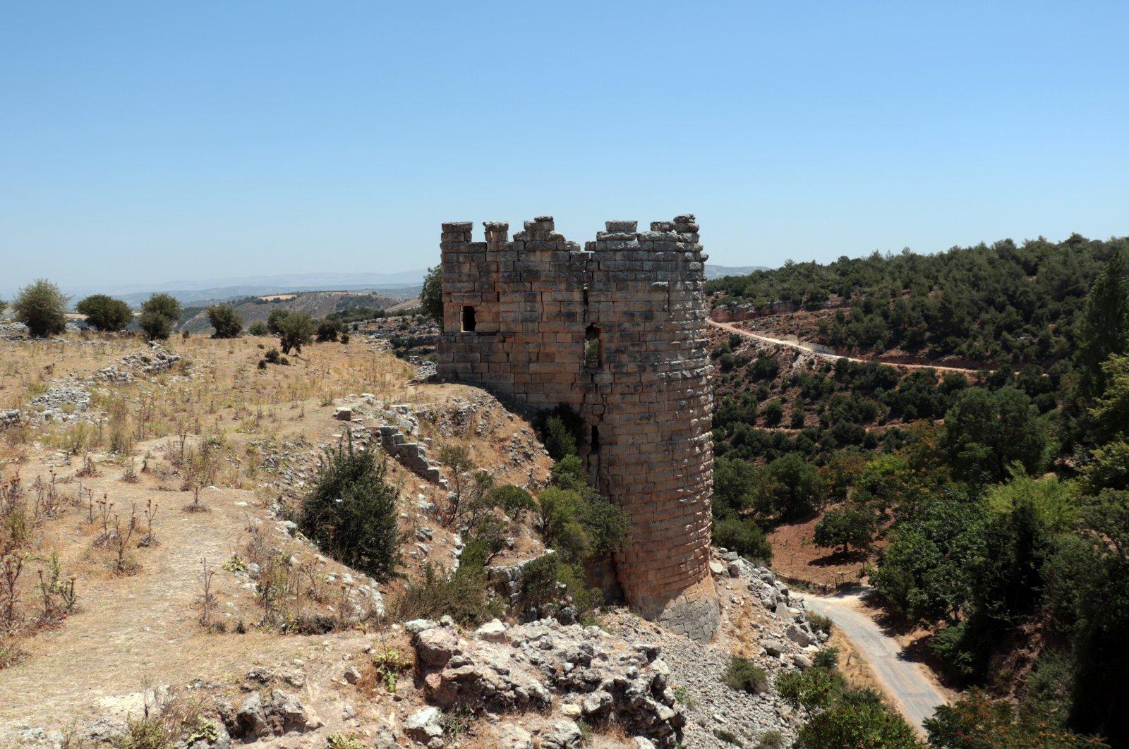 A general view of Koz Castle, Hatay, southern Turkey, Aug. 17, 2021. (AA Photo)