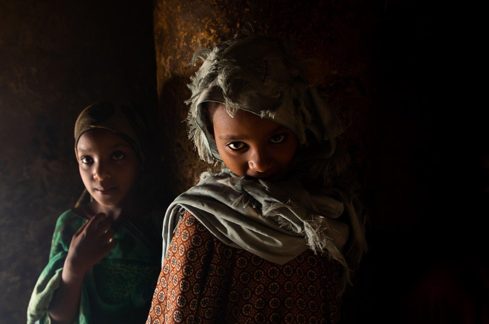 Oromo pilgrim girls inside the shrine of sufi Sheikh Hussein , Oromia, Sheik Hussein, Ethiopia on Aug. 10, 2019. (Getty Images)