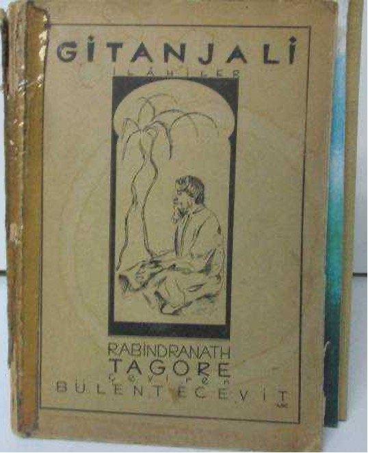 A 1941 edition of Prime Minister Bülent Ecevit's translation of 'Gitanjali.'