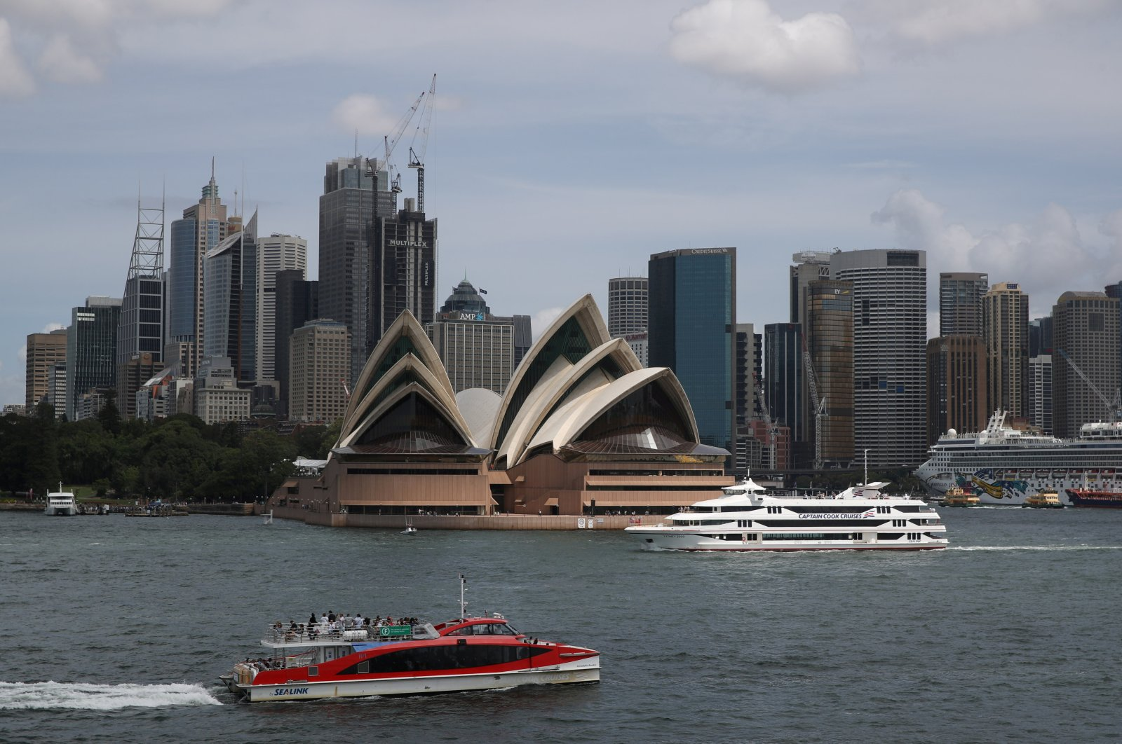 The Sydney Opera House and city center skyline are seen in Sydney, Australia, Feb. 28, 2020. (Reuters Photo)