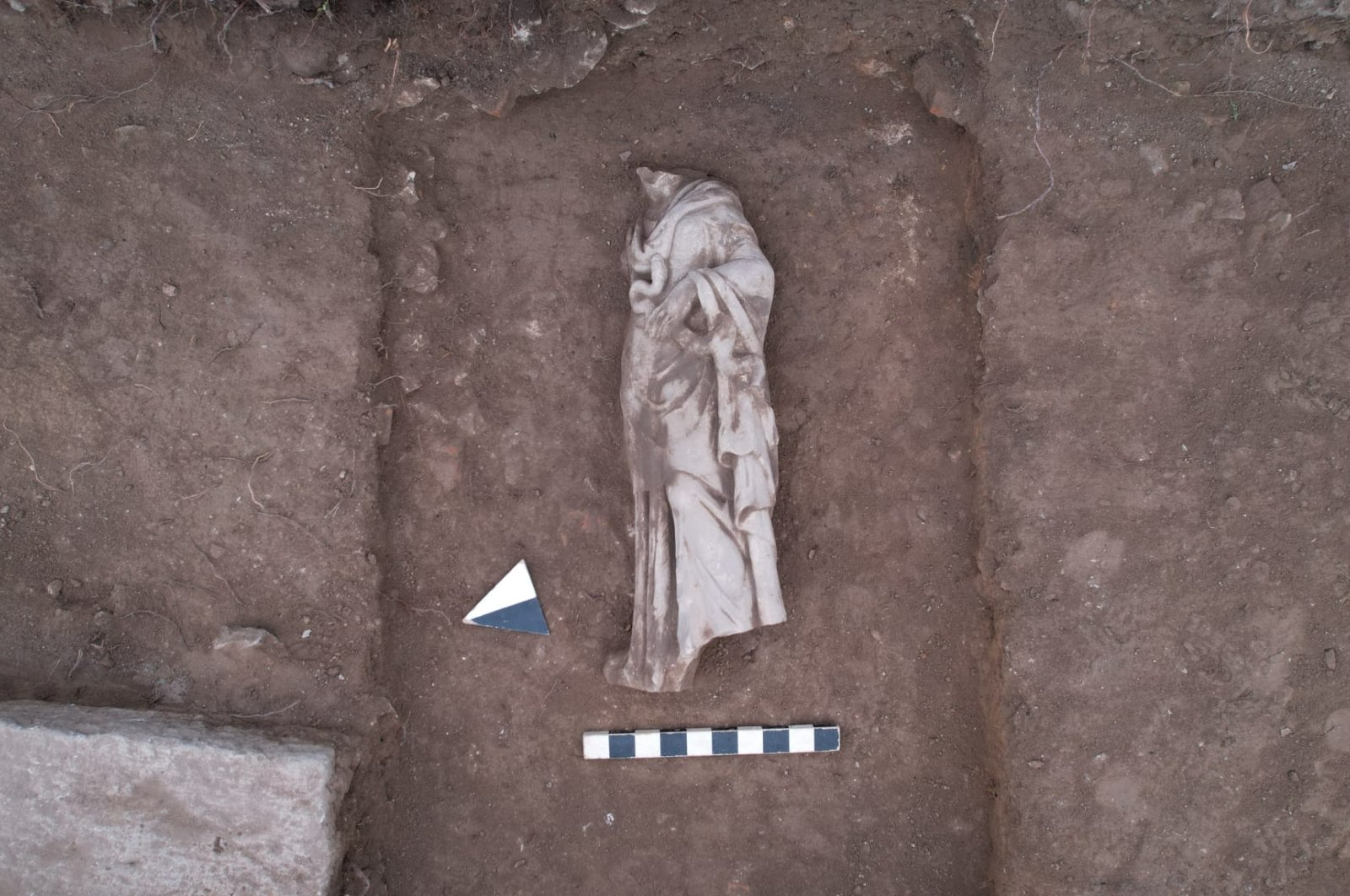 The statue of Hygieia in the ancient city of Aizanoi, Kütayha, western Turkey, Aug. 19, 2021. (AA Photo)