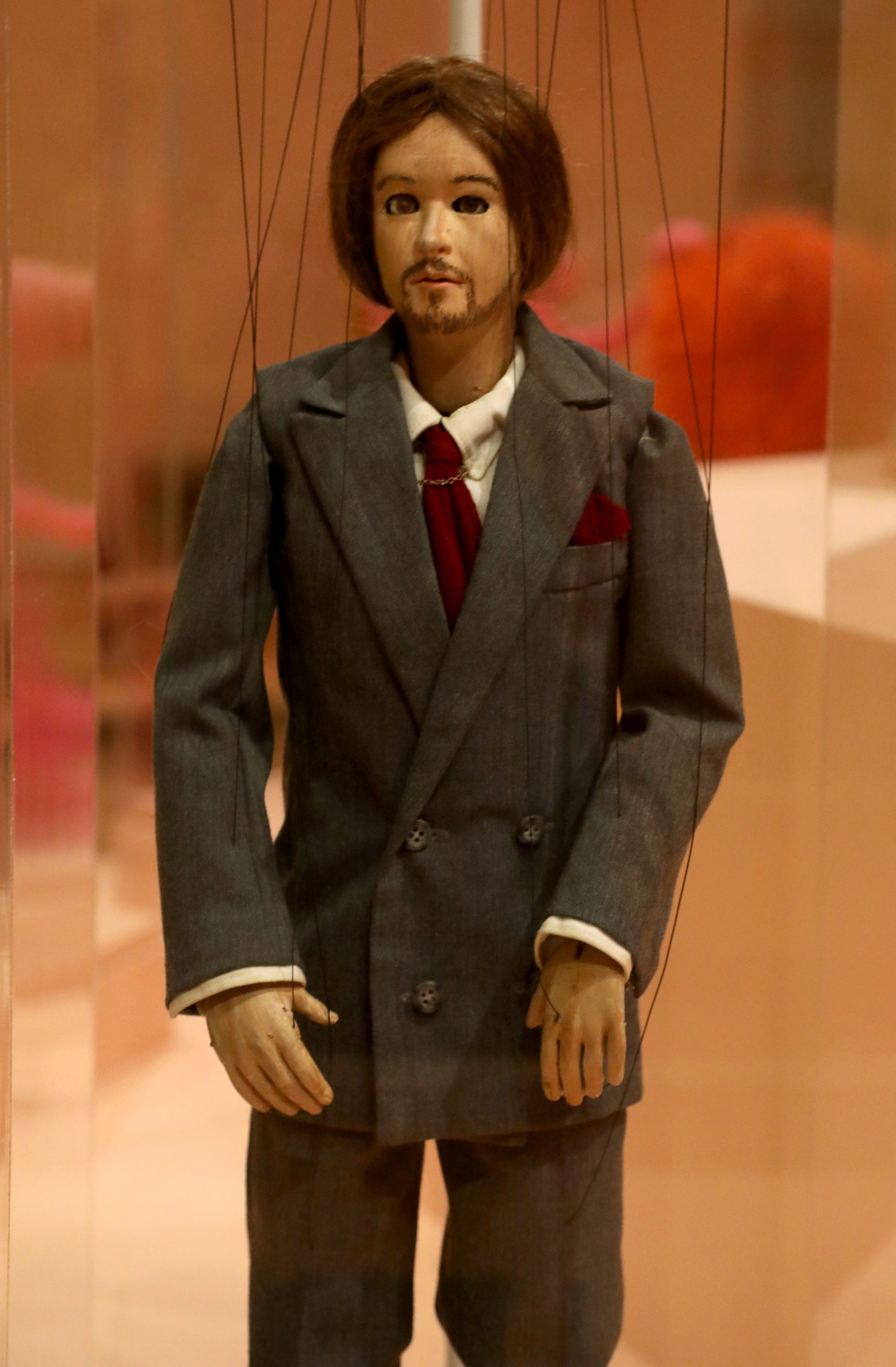 This puppet from the Spike Jonze classic 'Being John Malkovich' is among those at the Puppets of New York show at The Museum of City of New York, New York, U.S. (DPA Photo)