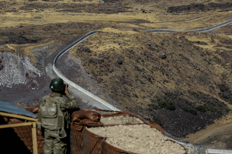 Turkish security forces monitor the eastern border with Iran, Van, Turkey, Aug. 19, 2021. (Photo by Uğur Yıldırım)