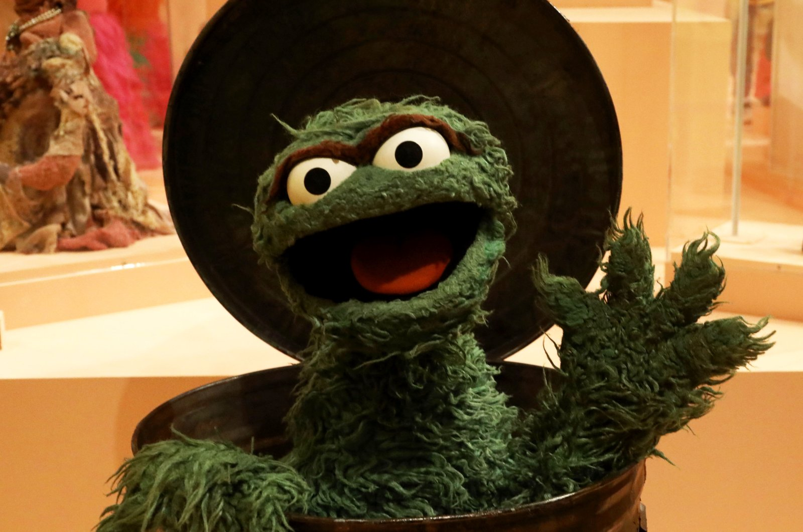 No puppet exhibition would be complete without Oscar the Grouch:The Jim Henson puppet created for Sesame Street is among those at the Puppets of New York show at The Museum of City of New York, New York, U.S. (DPA Photo)