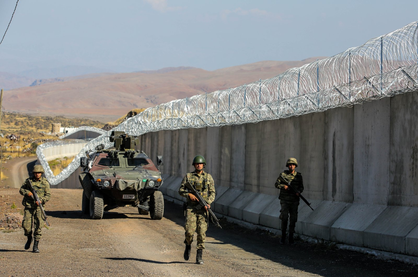 Turkish security forces patrol the eastern border with Iran, Van, Turkey, Aug. 19, 2021. (Photo by Uğur Yıldırım)