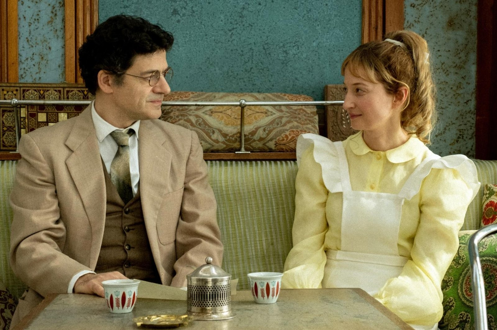 """A still shot from """"Skies of Lebanon"""" shows Wajdi Mouawad (L) as Joseph and Alba Rohrwacher as Alice."""