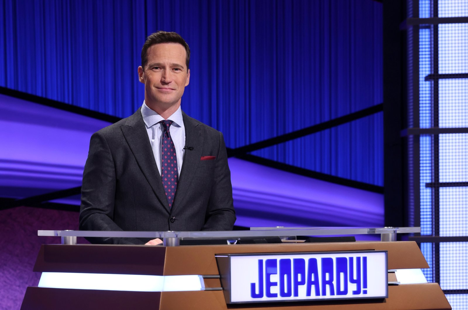"""An undated handout photo of """"Jeopardy!"""" executive producer and former host Mike Richards. (Carol Kaelson/Sony Pictures Entertainment/Handout via REUTERS)"""