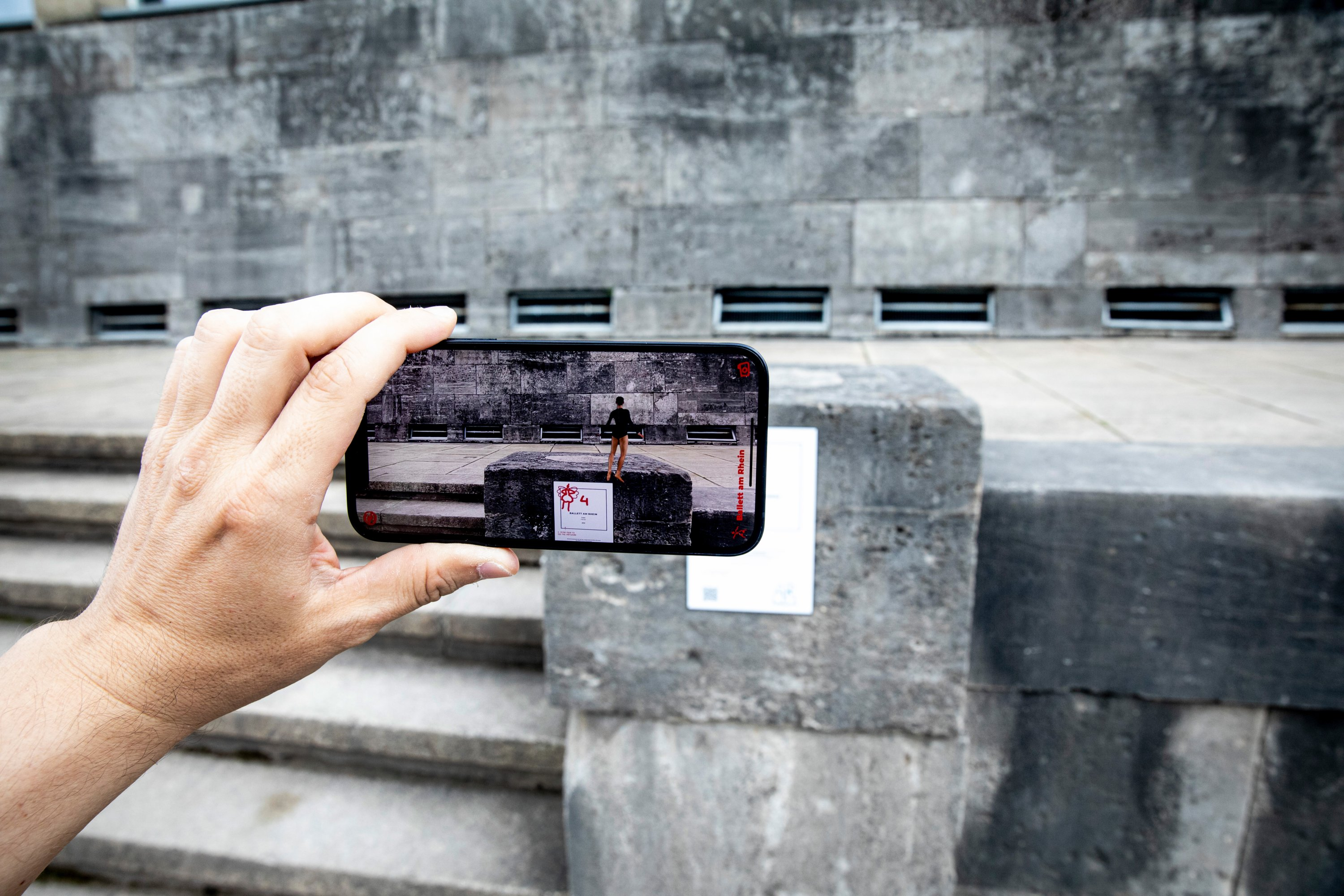 Invisible to all those without a phone, the artworks of the NRW-Forum in Dusseldorf are entirely based in the AR world. (DPA Photo)