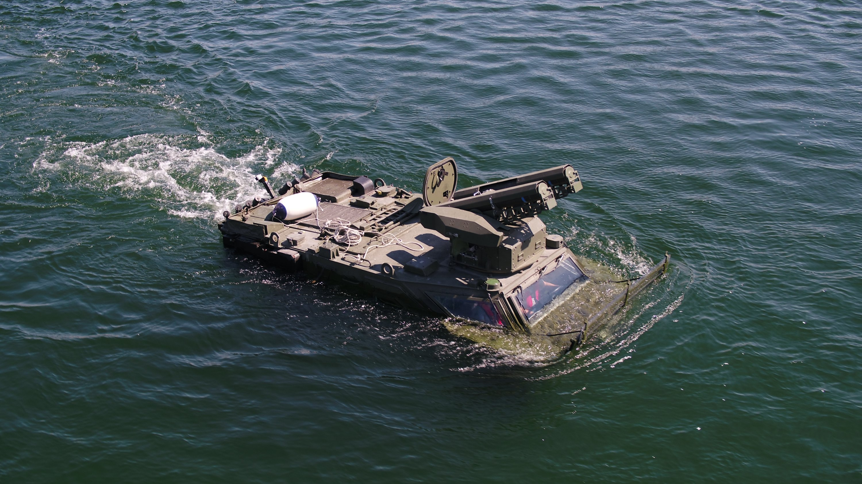 Pars 4x4 amphibious vehicle seen in this photo provided on Aug. 21, 2021. (Courtesy of FNSS)