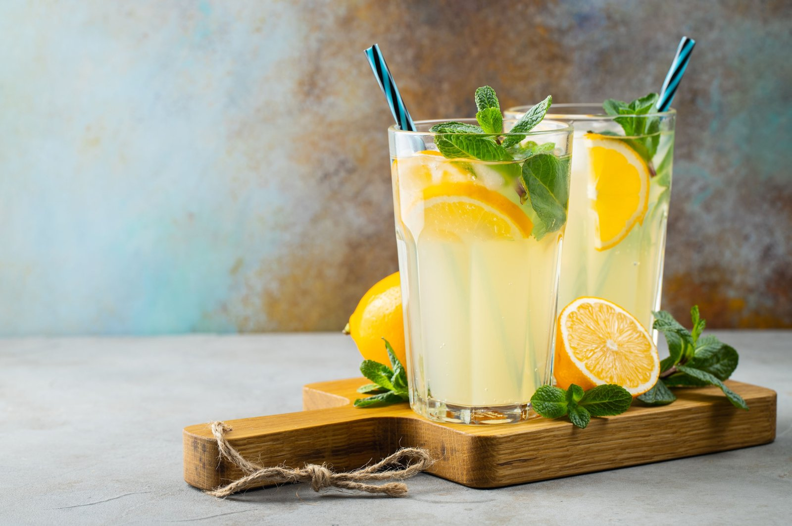 Two glasses with lemonade. (Shutterstock Photo)