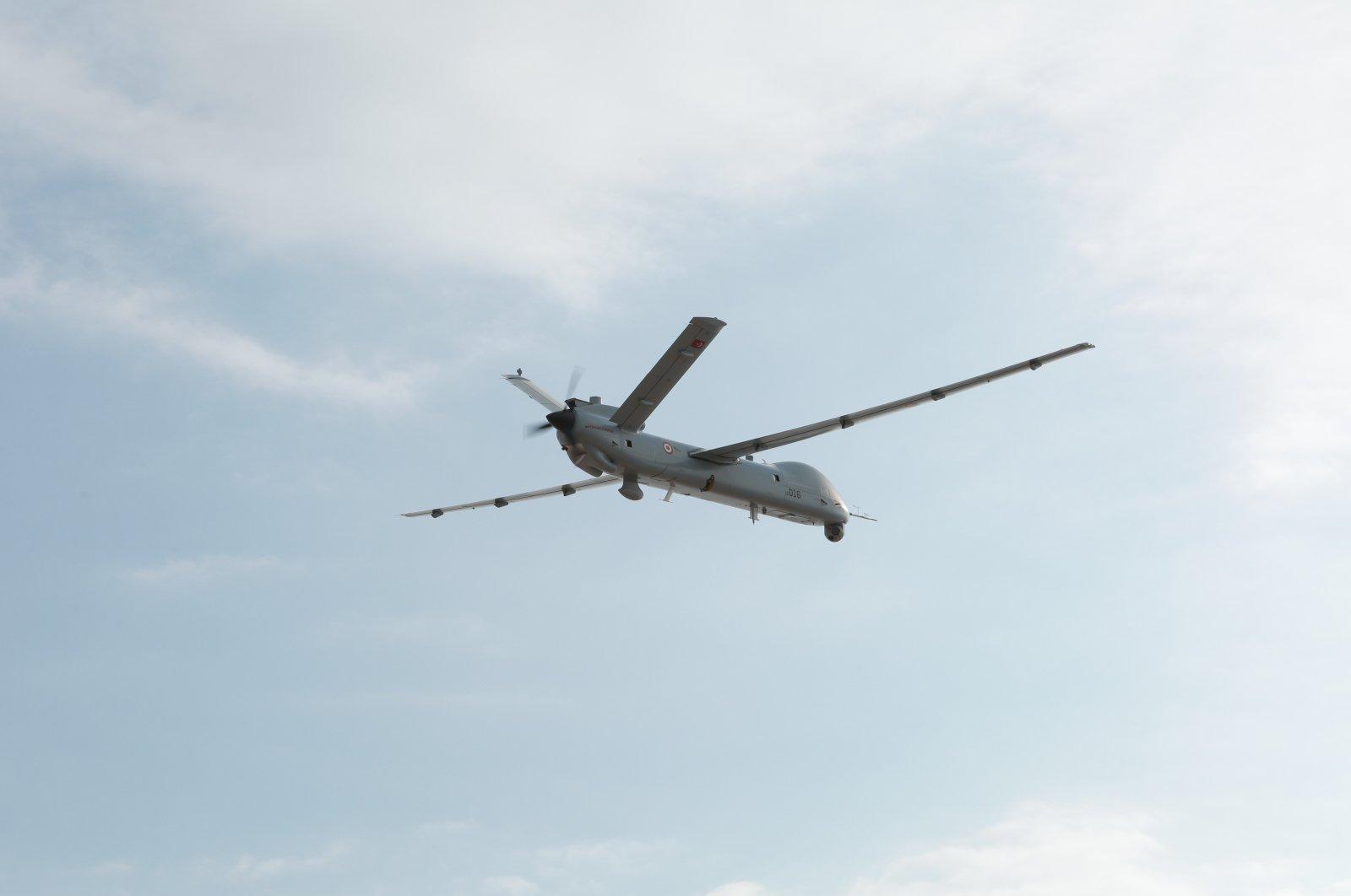 TAI's Anka seen in air in this photo provided on Aug. 14, 2021. (IHA Photo)
