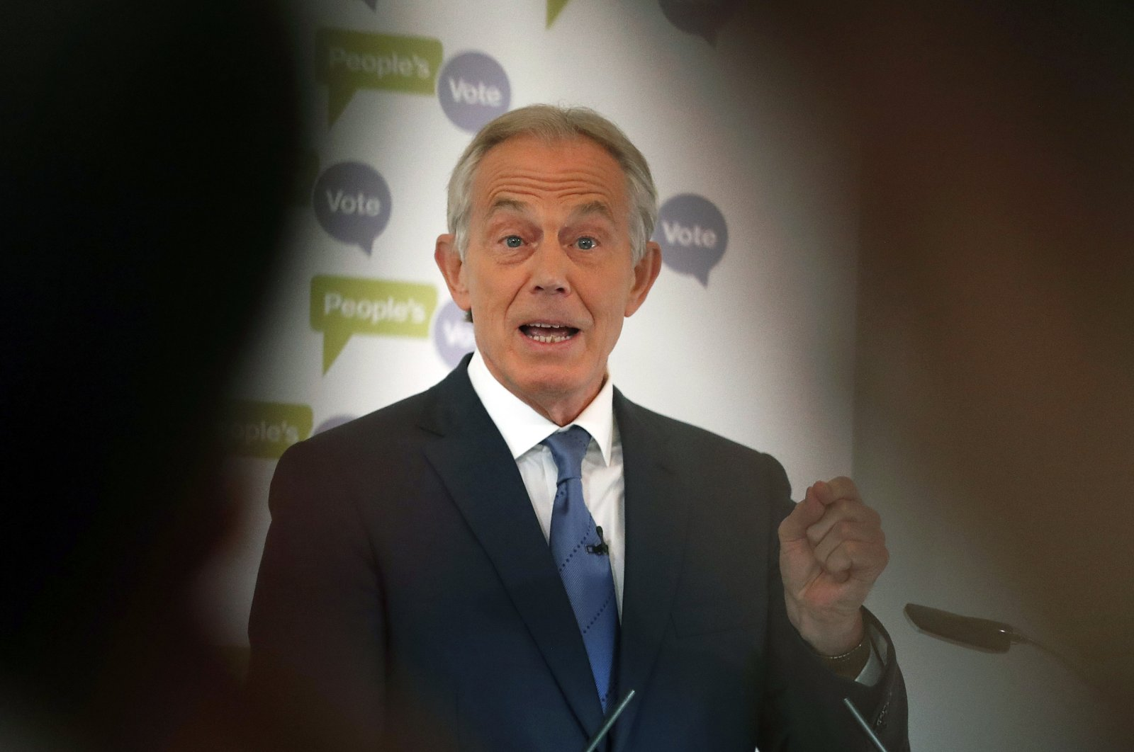 Britain's former Prime Minister Tony Blair makes a speech on Brexit at the British Academy in London, U.K., Dec. 14, 2018. (AP Photo)